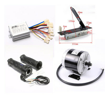 24V 350W Electric Brush Motor Speed Controller Foot Pedal Grip Scooter EBike ATV