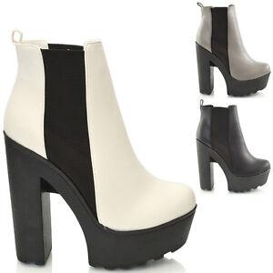 Chunky High Heel Boots