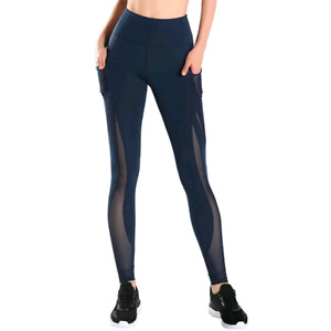 Athlemon Womens Large yoga pants. Mesh design with pockets.