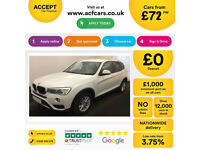White BMW X3 2.0TD 4X4 2014 xDrive20d SE FROM £72 PER WEEK!