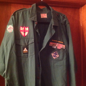 Cub Scout Vintage shirts with crests