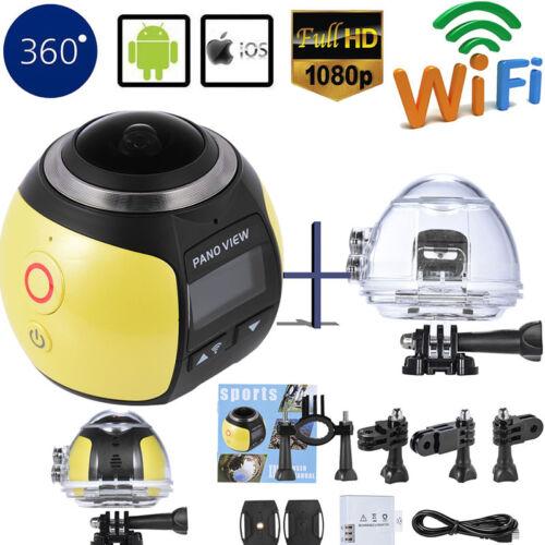 4K Wifi 360 Degree HD Ultra Panoramic Sport Camera Action Driving Helmet VR Cam