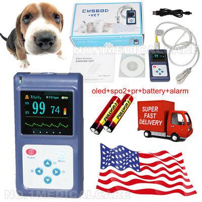 Usa Warehouse Fda Cms60dvet Veterinary Spo2 Pulse Oximeter Pc Swalarm Animal