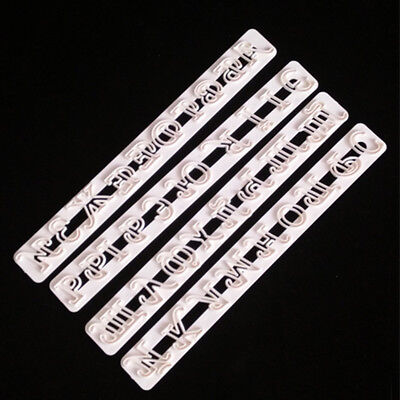4* Russische Buchstaben Alphabet Fondant Formen Cutter Embosser Zuckerfertigkeit