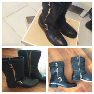 AUTHENTIC MICHAEL KORS LEATHER BOOTS