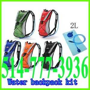 Water Bladder Backpack Bag 2L Rucksack Cycling Sport Pack Hiking