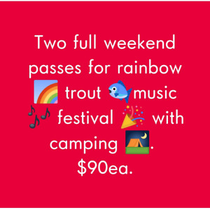 Rainbow trout music festival tickets
