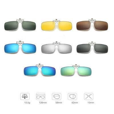 Sonnenbrille Polarisiert Clip on Fahren Brille Tag Nachtsicht Shade Lens UV400
