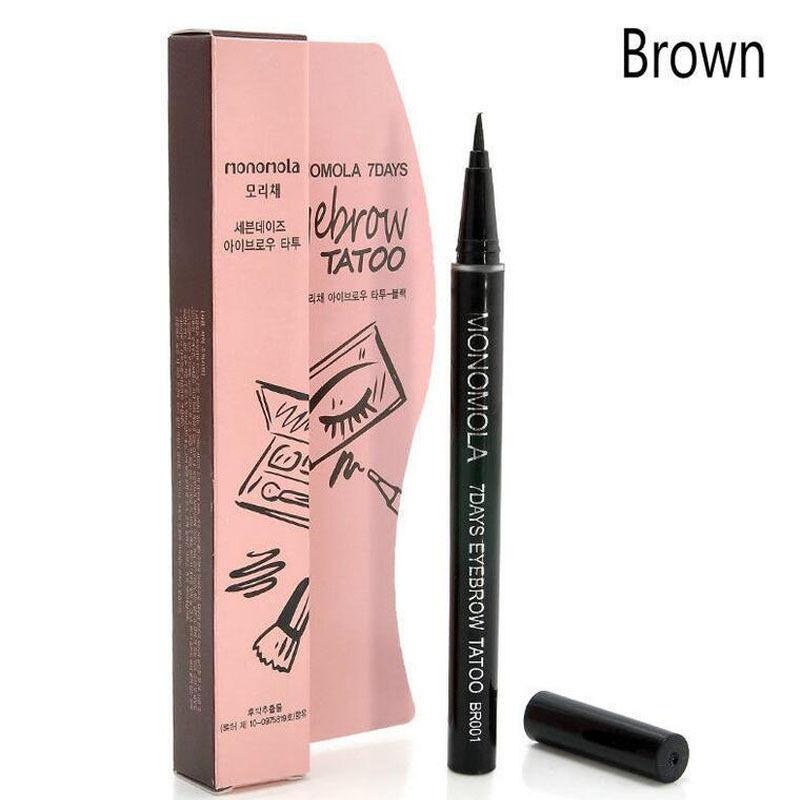 Waterproof 7 days eye brow eyebrow tattoo pen liner long for Waterproof eyebrow tattoo