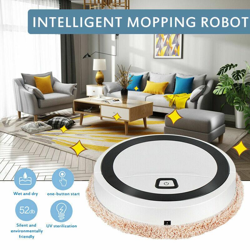 3in1 Auto Rechargeable Smart Robot Vacuum Dry/Wet Floor Mop