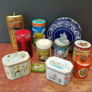 11 Collectable Cans/Tins