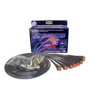 Taylor Spark Plug Wire Set 75089; Spiro Pro 8mm Black Straight HEMI Universal Hemi Spark Plug Wires
