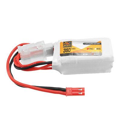 BATERIA LiPo ZOP 7.4V 350mAh 70C 2S Drone Rechargeable Lipo Battery JST Plug RC