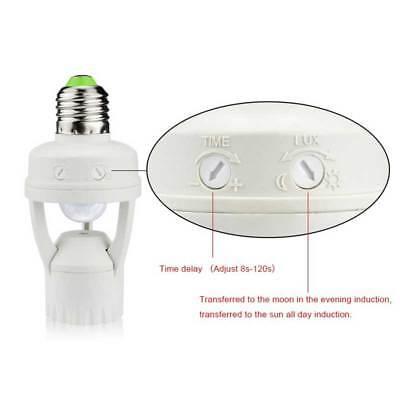 AC110V-240V Socket Infrared Motion Sensor Automatic E27 Light Lamp Holder Switch