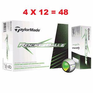 48 Taylormade Rocketballz Golf Balls (2 x Pack Of 24) 4-Dozen