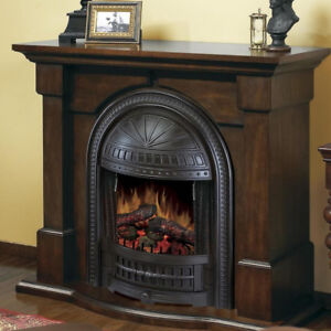 Electric Fireplace in Burnished Walnut