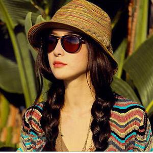 Women Lady Trilby Summer Beach Sun Hats Floppy Bohemia Cap Fashion Straw new