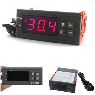 Digital Temperature Controller Thermostat Ac10a110v220v Ledsensor For Incubator
