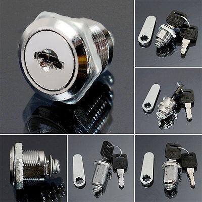 16202530mm Cam Lock Door Cabinet Mailbox Desk Drawer Cupboard Locker 2 Keys