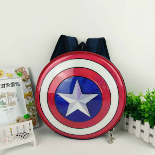 0cc512082d Captain America Shield Backpack Marvel Avengers Superhero School Bag Kids  Boys