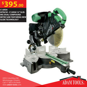 "HITACHI - C12RSH 12"" SLIDING DUAL COMPOUND MITRE SAW"