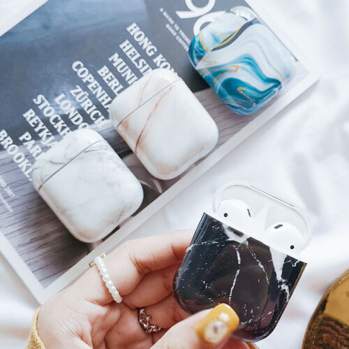 Marble Hard PC Case Cover For Apple Airpods Earphones Skin C