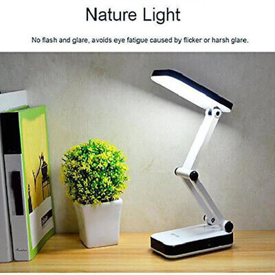 Foldable USB Flexible Reading LED Desk Table Lamp Book Light and Battery Powered