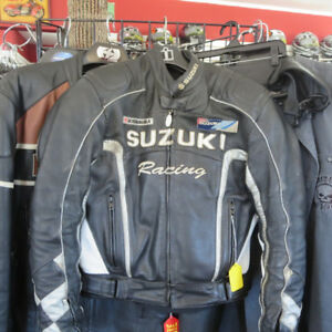 Suzuki Sport Men's Leather Motorcycle Jacket $70 Re-Gear Oshawa