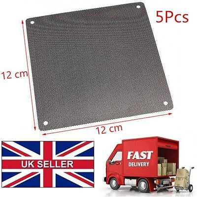 5PCS PVC PC Server Fan Dust Filter Dustproof Perforated Computer Case Mesh 120mm