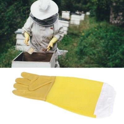 Beekeeper Protective Gloves Faux Goatskin Gloves Anti Bee Beekeeping Equipment