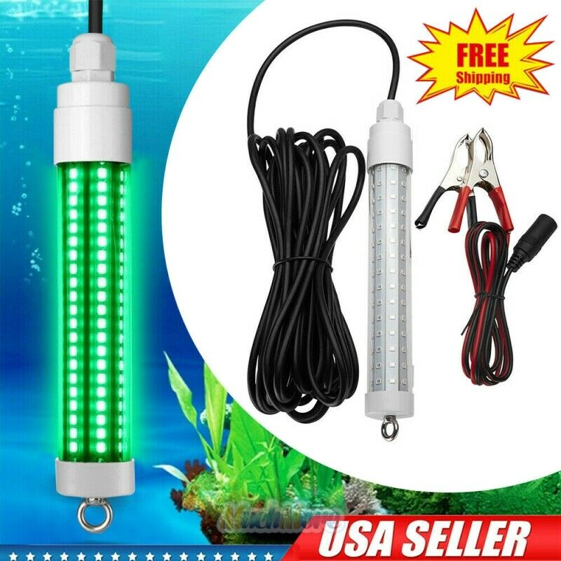 Waterproof 120 LED 50000LM GREEN UNDERWATER SUBMERSIBLE NIGHT FISHING LIGHT 12v