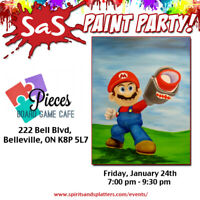 Mario Paint Party at the Pieces Cafe in Belleville!