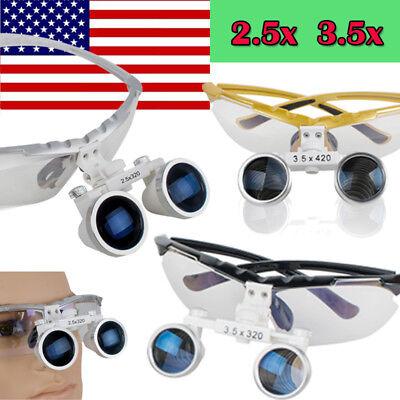 Usa Dental Loupe Binocular Loupes 3.5x 2.5x 420mm 320mm Magnifier Magnify Fda