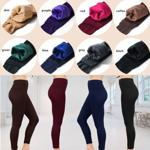 853958acf05ac5 Stretchable slip-on design without any unsightly zipper. Women's Winter  Warm Fleece Lined Tights High Waisted Elastic Leggings Pants
