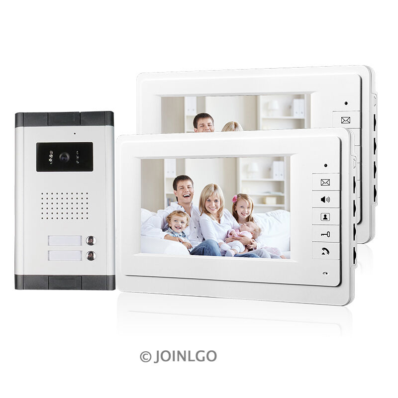 "7"" Apartment Video Door Phone System Intercom doorbell Camera + 2 monitors"