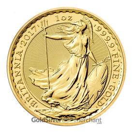 Uncirculated 2017 1oz Gold Britannia coin