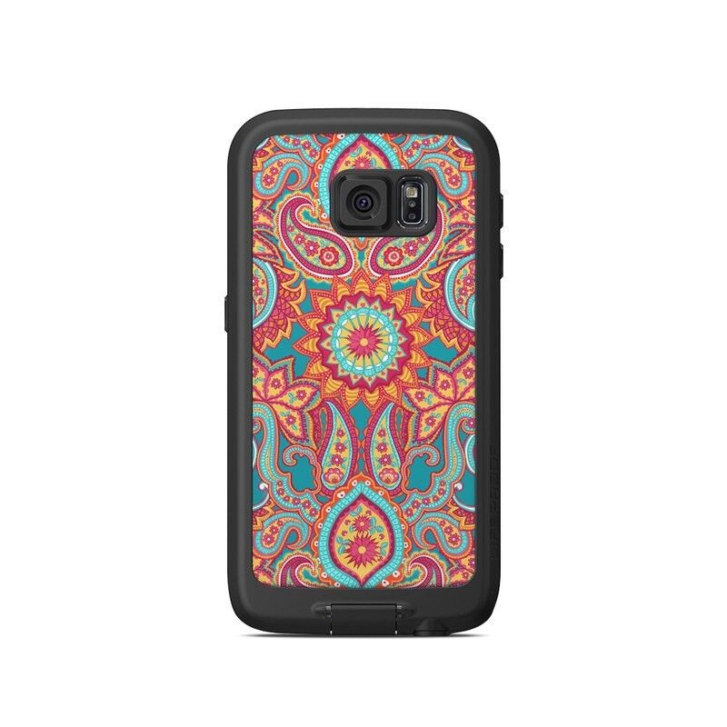 Skin for LifeProof Galaxy S6 FRE Case - Carnival Paisley - Sticker Decal