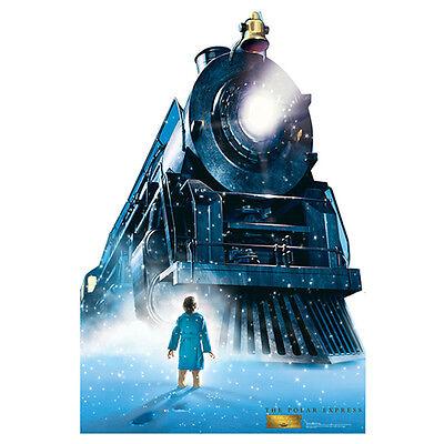Polar Express TRAIN LOCOMOTIVE Large CARDBOARD CUTOUT Standup Standee Poster