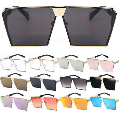 Sonnenbrillen Fashion Luxus Übergröße Square Metal Brille Herren Damen Blogger