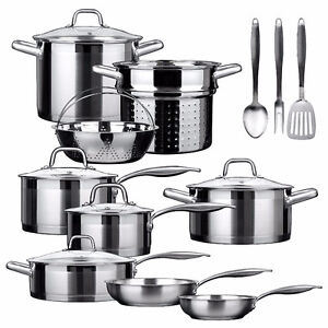 New Duxtop Professional Stainless-steel 17-piece