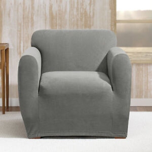 SURE FIT STRETCH MORGAN BOX CUSHION ARMCHAIR SLIPCOVERS - FJN