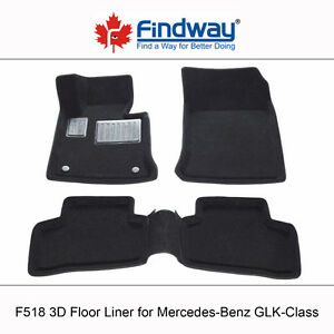 All weather 3D Floor Liners for 2009-2013 Mercedes GLK-Class