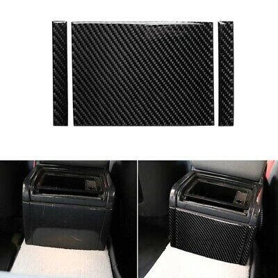 Carbon Fiber Interior Rear Center Console Cover Trim fit For BMW 3...