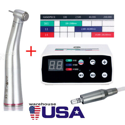 Us Dental Brushless Electric Led Micro Motor Nsk Style 15 Increasing Handpiece