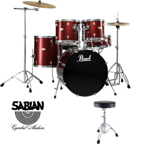 Pearl Drum Set with Brand New Sabian Canadian Made Cymbals