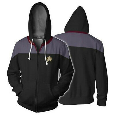 Petit Film Halloween (Star Trek Voyager Commander Captain Zip Up Hoodie Jacket Sweatshirt Cosplay)