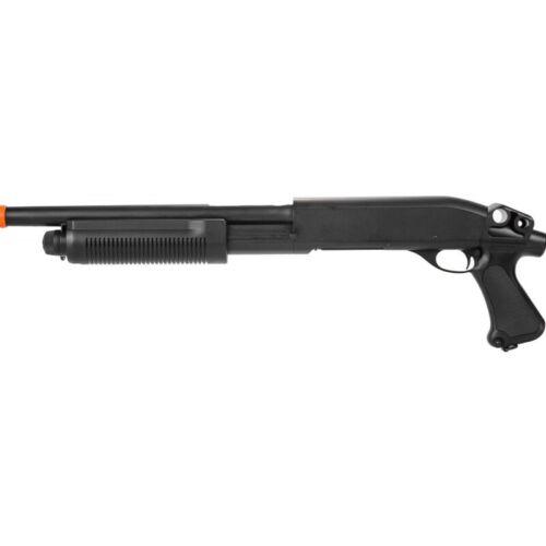 Lancer Tactical M870 Full Metal Tri-Shot Airsoft Shotgun BLACK