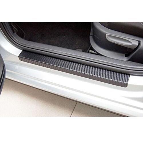 3D Carbon Fiber 4pcs Inner Door Sill Scuff Plate Car Decal Sticker Anti-Scratch