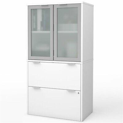 Bestar I3 Plus 2 Drawer Door File Cabinet In White