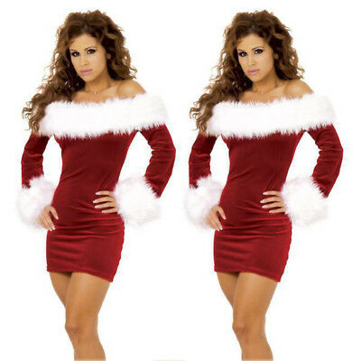 Fashion Sexy Women Christmas Costume Santa Outfits Xmas Fancy Dress Cosplay](Santa Outfits Women)